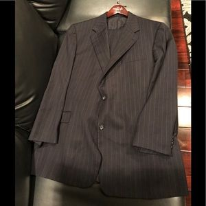 Men's Burberry London Pin-Striped Navy Blue Suit