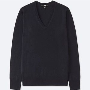 Uniqlo Extra Fine Merino V-Neck Sweater