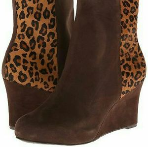 1 DAY ONLY! $25 FIRM! NEW Rockport Cheetah Booties