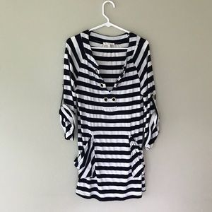 Kenar striped cover up tunic