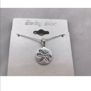 Other - Sterling silver dragonfly pendant w/necklace NEW