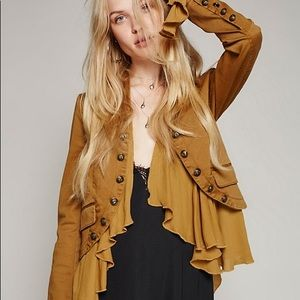 Romantic Ruffles Military JACKET Coat Gingersnap