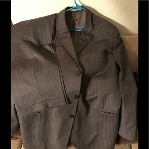Men's Burberry London Pin-Striped Grey Suit used