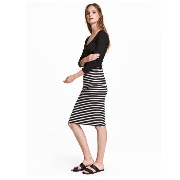 1552039294 H M Dresses   Skirts - H M Striped Tight-Stretch ...