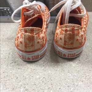 Converse Shoes - Converse all star orange Embroidered size M5/W7