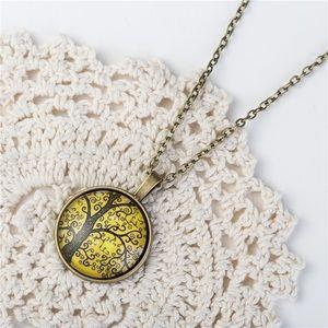 Jewelry - Brass tree necklace