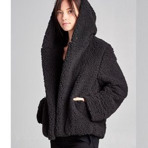 Jackets & Blazers - 2 left! Price drop and FIRM! Faux Fur Hooded Coat