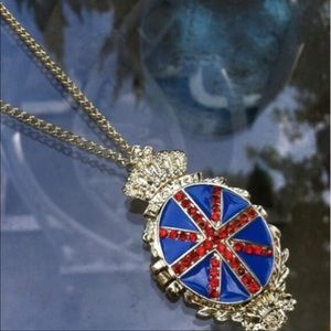 Special Gold British pave locket comes with pouch