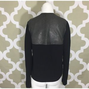 Rachel Roy 100% Leather Back Blazer