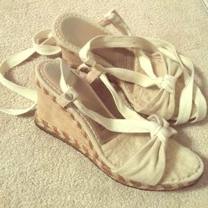Ugg wedge lace up sandals