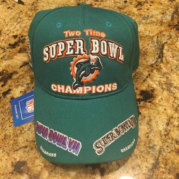 Vintage Reebok Miami Dolphins Hat NFL Football d9d9ba13f