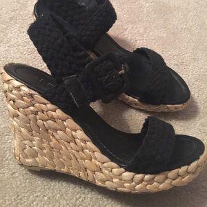 Black Aldo wedge sandals