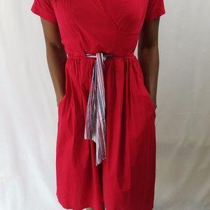 Shabby Apple Women Red Dress