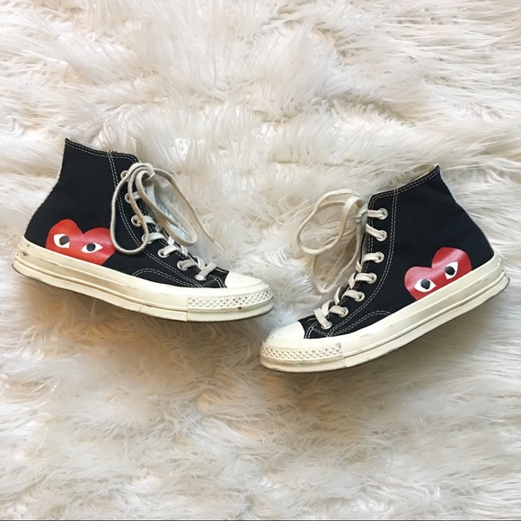 ef72b54ccef797 Converse Shoes - CDG PLAY x Converse Woman Hidden Heart High Top 6