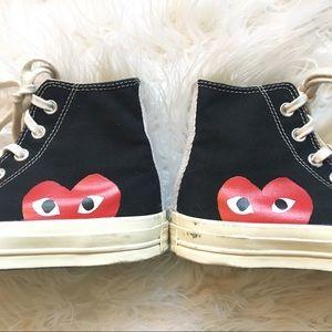 272705861883 Converse Shoes - CDG PLAY x Converse Woman Hidden Heart High Top 6