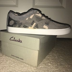 Grey casual Clarks shoes
