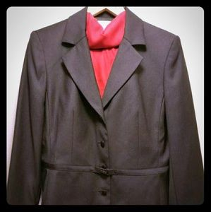 Dresses & Skirts - Sharp Brown 2pc Suit Must See Nwot