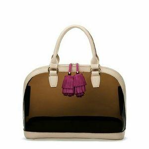 Handbags - Clear Pom Pom Satchel