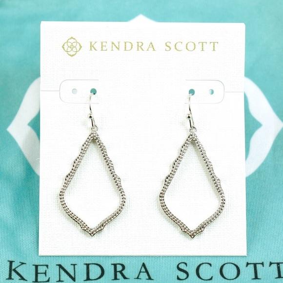 fda6e656e6d62 Kendra Scott Sophia Drop Earrings Silver Tone