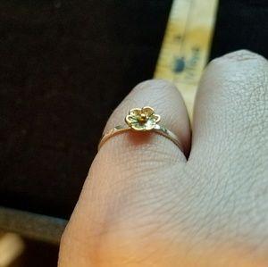 Jewelry - Sterling Silver Vermeil flower Ring