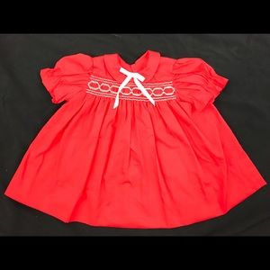 Adorable Red Baby Girl Dress
