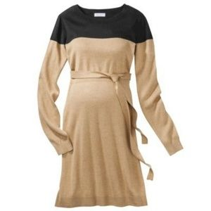 Liz lange maternity tan w black dress XXL