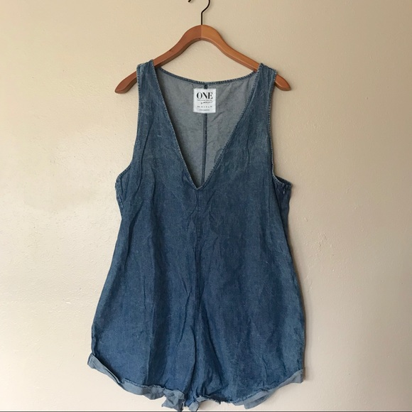 f91f9b729152 One teaspoon denim romper