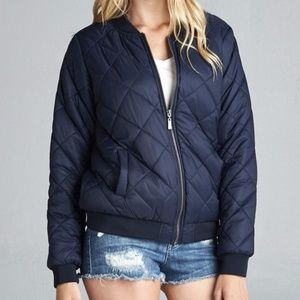 Jackets & Blazers - CLOSET CLEAR OUT!!  Quilted Padded Bomber Jacket.
