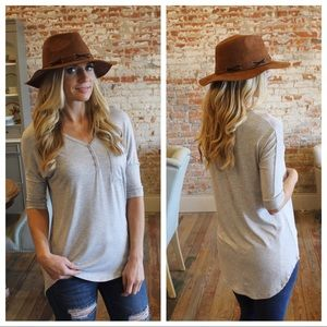 Heather Gray Button Down Tunic
