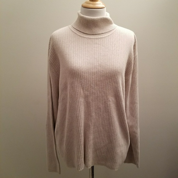 74% off Talbots Sweaters - Talbots XL Cream Colored Turtleneck ...