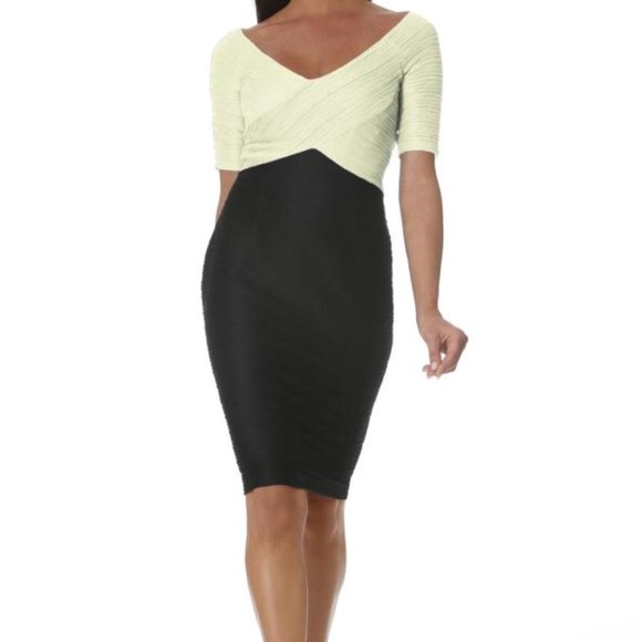8ef6c0f9d5 Nue by Shani Black and Ivory Dress