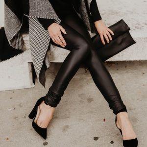 Pants - NWT Matte Black Leather Leggings