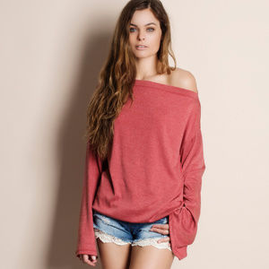 Off Shoulder Oversized Sleeve Top