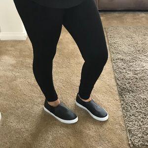 Shoes - •FINAL PRICE SALE• Black Satin Slip Ons
