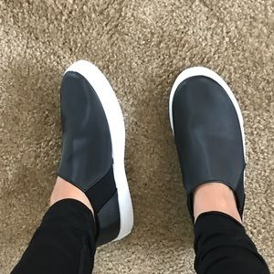 Shoes - •FINAL PRICE SALE• Black Satin Slip Ons