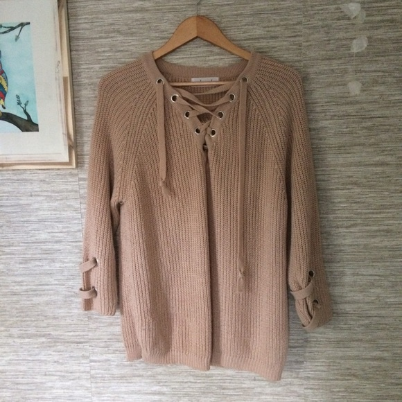 0a2c830219 chicwish Sweaters - LOWEST! CHICWISH Lace up Sweater S M