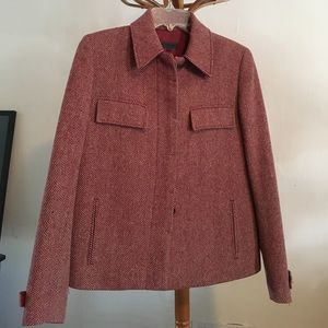 Beautiful burgundy tweed jacket