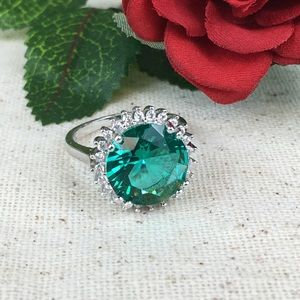 Kako Jo's Closet Jewelry - Aqua Marine Fashion Ring Sterling Silver Plated