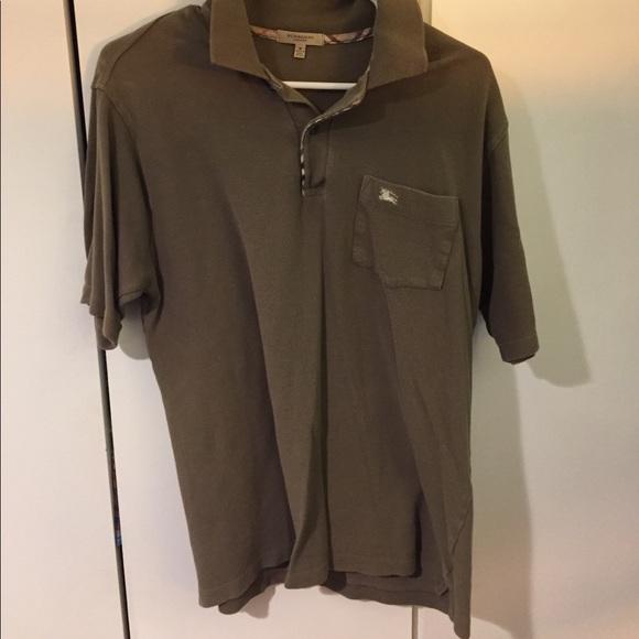 39599548 Burberry Shirts | M Olive Green Front Pocket Polo | Poshmark