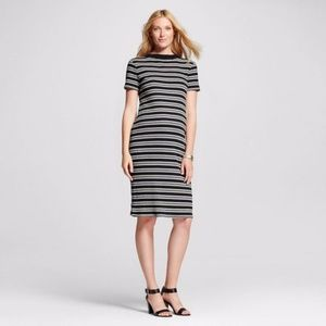 NEW Liz Lange Maternity Striped Core Ribbed Dress