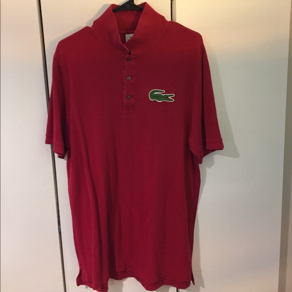 2b0673e2 Lacoste Shirts   Red Large Tall Long Big Gator Polo   Poshmark