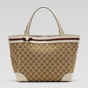 Medium Mayfair Tote Off White and tan