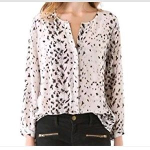 Joie cheetah printed blouse