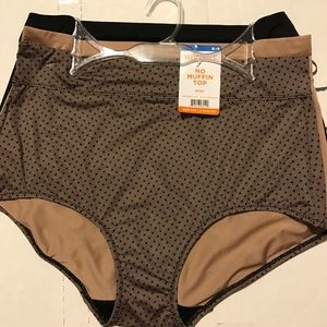 Warner's No Muffin Top Briefs 3-pk M/6 XL/8