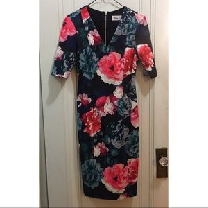 Eliza J Floral Pattern Dress Size 4
