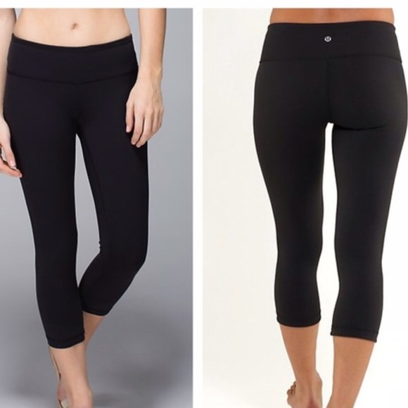 1b38d13cc4 lululemon athletica Pants | Lululemon Cropped Black Leggings | Poshmark