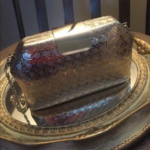 Handbags - Silver Metal Handbag • Saks Fifth Avenue •