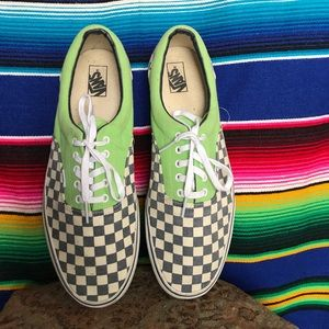 9e9e460b20db Vans Shoes - Vans Era Doren Checker Green Flash Shoe