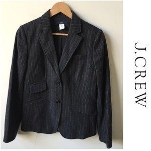 J.Crew School Boy Wool Pinstripe Blazer