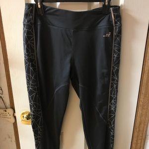 Gray long yoga pants
